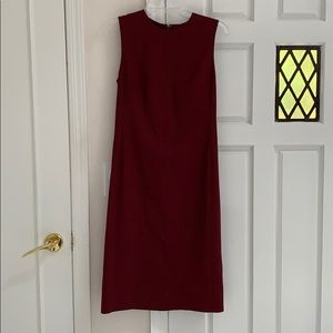 Theory Eano Wool Dress Deep Mulberry Size 2